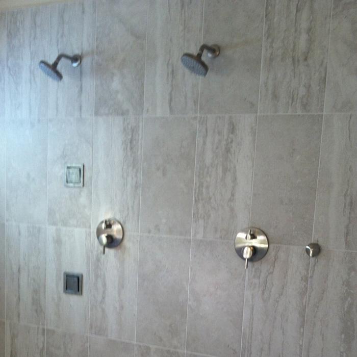 Bathroom Remodel Linear Drain